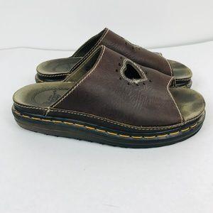 Vtg Slip On Shoes Dr Marten Sandals Heart Cut Out